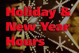 Holiday & New Year Hours