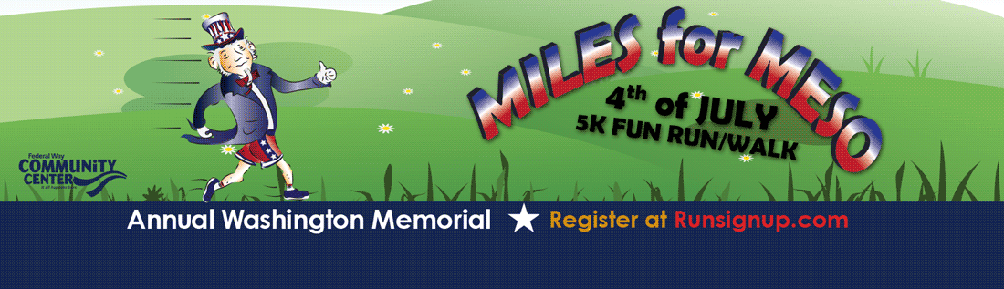Miles For Meso 5k Fun Run/Walk, July 4th