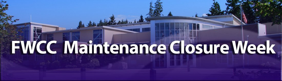 The FWCC is Closed Saturday, August 31 – Friday, September 6